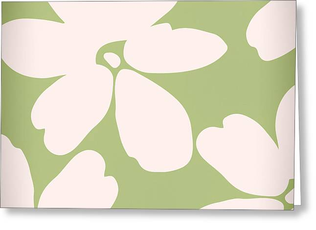 English Garden Floral Pattern Greeting Card by Mindy Sommers