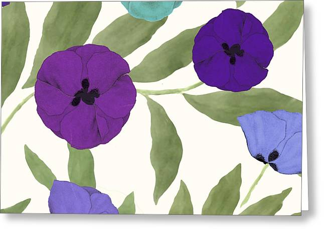 Painted Flowers Greeting Cards - English Garden Greeting Card by Mindy Sommers