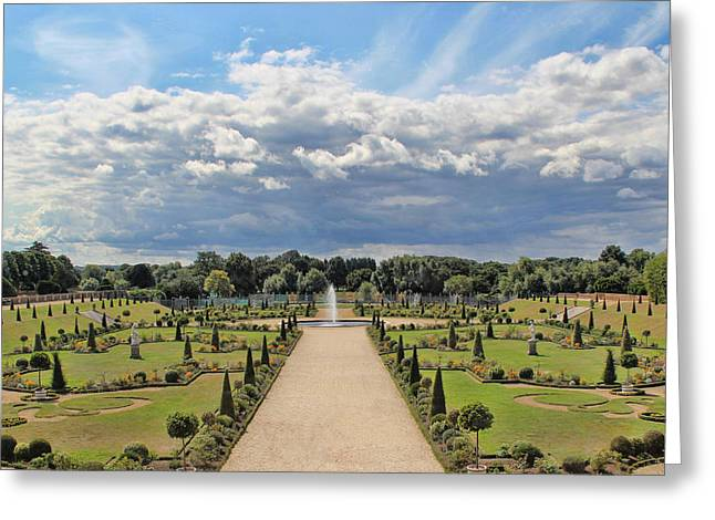 Hampton Court Greeting Cards - English Garden Greeting Card by Nancy Ingersoll