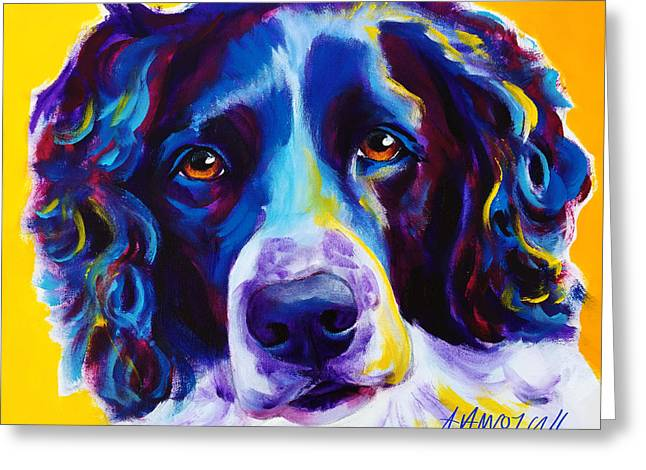 Alicia Vannoy Call Paintings Greeting Cards - English Springer Spaniel - Emma Greeting Card by Alicia VanNoy Call
