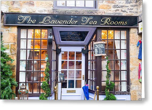 History Derbyshire Greeting Cards - English Tea Rooms Bakewell Derbyshire Greeting Card by Martin Berry
