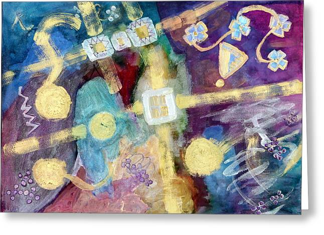 Great Mysteries Mixed Media Greeting Cards - Enigma Greeting Card by Don  Wright