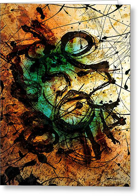 Abstract Shapes Greeting Cards - Enigma  Greeting Card by Gary Bodnar