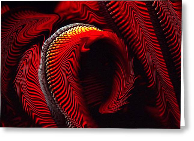Top Selling Digital Art Greeting Cards - Enigma Greeting Card by Hengameh Kaghazchi
