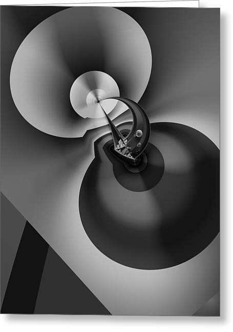 Abstract Digital Digital Greeting Cards - Enigma Variation 9 - Abstract Art Greeting Card by Vic Eberly