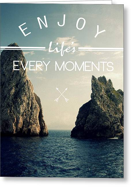 Surfing Art Greeting Cards - Enjoy Life Every Momens Greeting Card by Mark Ashkenazi