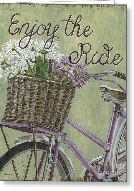 Enjoy The Ride Greeting Card by Debbie DeWitt