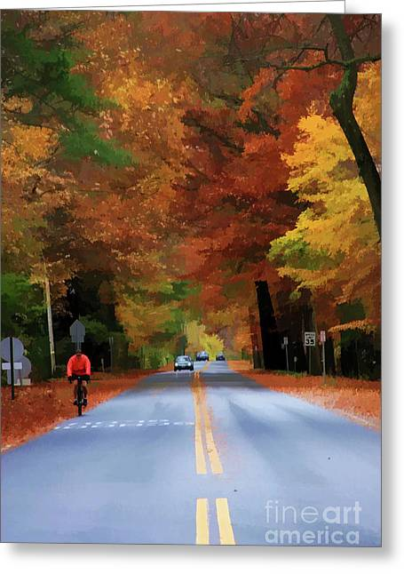 Double Bicycle Greeting Cards - Enjoying The Ride Greeting Card by Christine Segalas