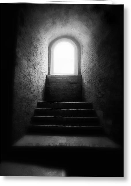 Best Sellers -  - Dungeons Greeting Cards - Enlighted Greeting Card by Artecco Fine Art Photography