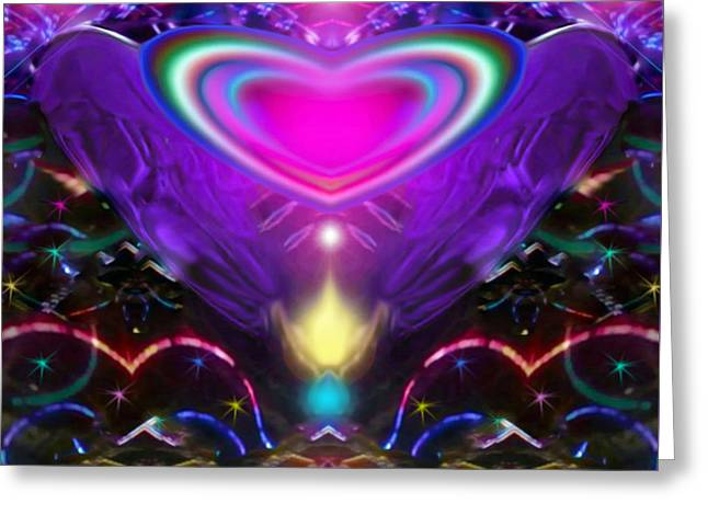 Enlightened Heart Greeting Card by Eliza Lily G