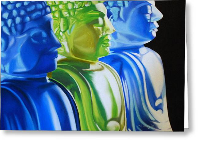 Blue And Green Pastels Greeting Cards - Enlightened Greeting Card by Melanie Cossey
