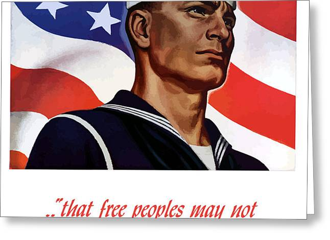 Enlist In Your Navy Today Greeting Card by War Is Hell Store