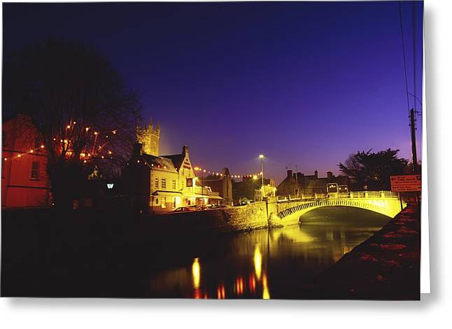The Irish Image Collection Greeting Cards - Ennis, Co Clare, Ireland Bridge Over Greeting Card by The Irish Image Collection