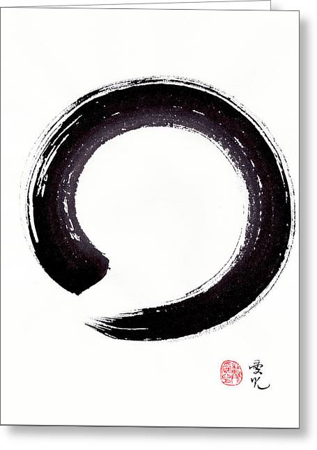 Enso Acceptance Of Imperfection As It Is Greeting Card by Oiyee At Oystudio