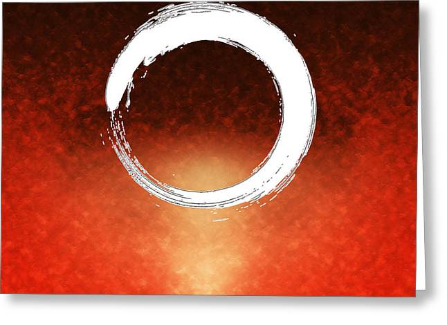 Art Product Greeting Cards - Enso Greeting Card by Stefano Senise