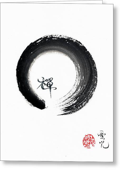 Enso Zen Greeting Card by Oiyee At Oystudio
