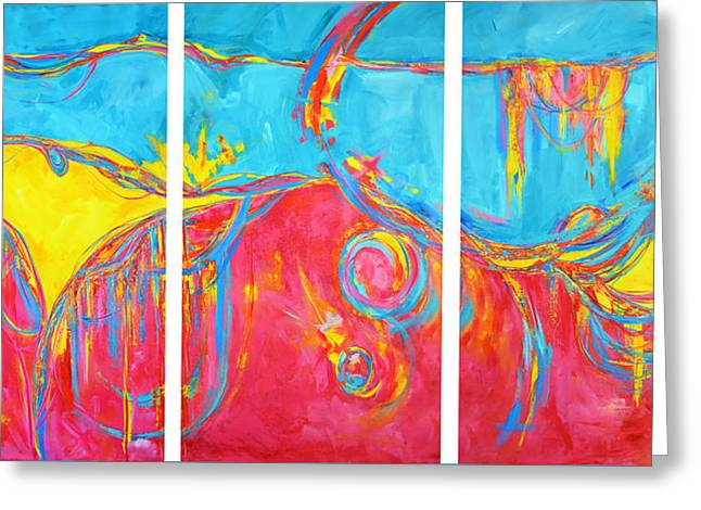 Energetic Art Greeting Cards - Entangled No. 5 a Reflection of Life Greeting Card by Patricia Awapara