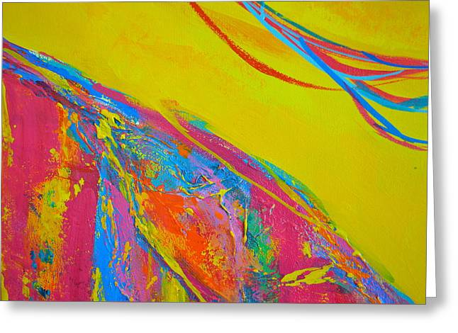 Energetic Art Greeting Cards - Entangled No. 5 - Fragmented 2 Greeting Card by Patricia Awapara