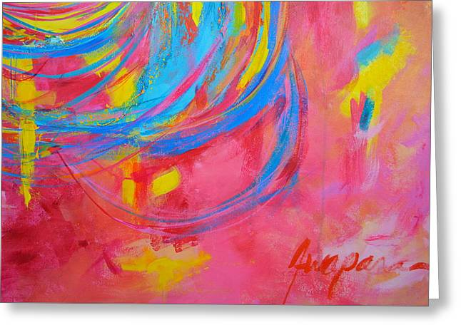 Energetic Art Greeting Cards - Entangled No. 5 - Fragmented 3 Greeting Card by Patricia Awapara