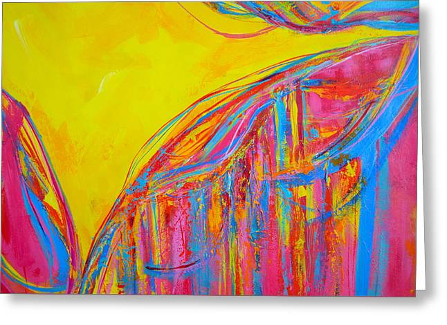 Energetic Art Greeting Cards - Entangled No. 5 - Fragmented 4 Greeting Card by Patricia Awapara