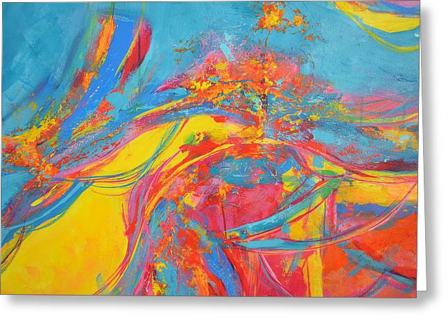 Energetic Art Greeting Cards - Entangled No. 5 - Fragmented 5 Greeting Card by Patricia Awapara