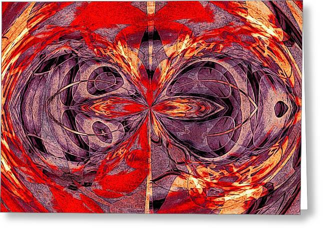Science Greeting Cards - Entangled Reflected Universes Greeting Card by Susan Maxwell Schmidt