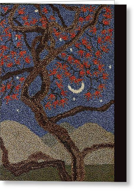 Surreal Landscape Tapestries - Textiles Greeting Cards - Entanglements Greeting Card by Jan Schlieper