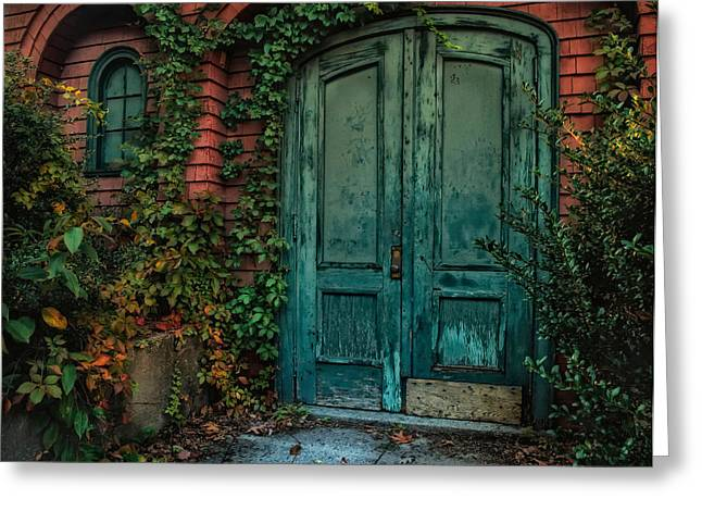 Old Doors Greeting Cards - Enter October Greeting Card by Robin-lee Vieira