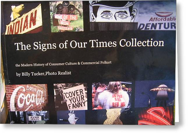 Entertaining Coffee Table Book-160 Images Greeting Card by Signs of the Timess Collection