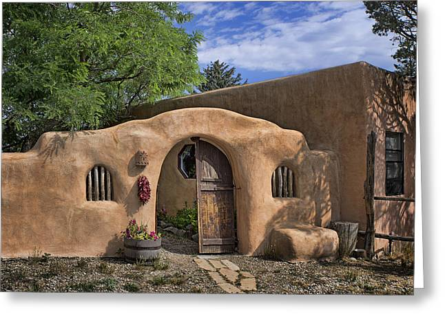 Entrance - Adobe Home Greeting Card by Nikolyn McDonald