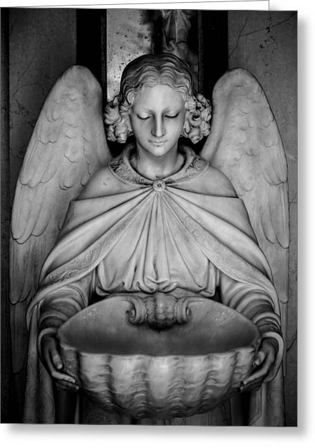 Religious Artwork Photographs Greeting Cards - Entrance angel Greeting Card by Anthony Citro