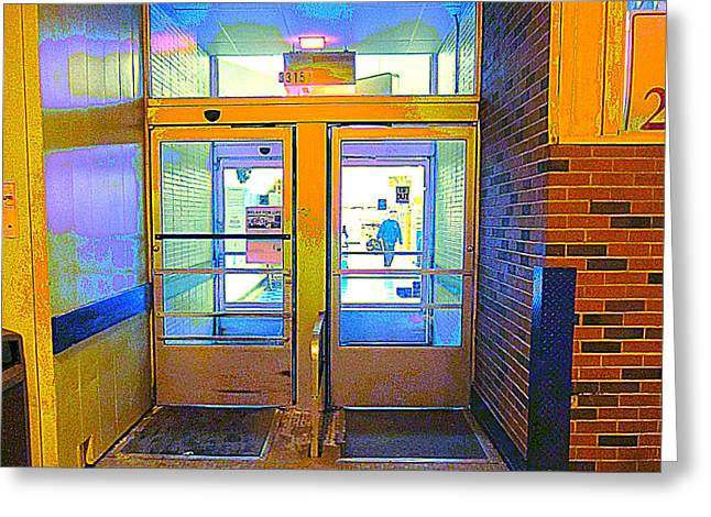 Grocery Store Greeting Cards - Entrance to Foodland Greeting Card by Guy Ricketts