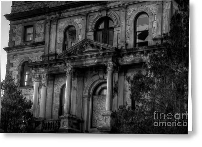 Weird New Jersey Greeting Cards - Entrance to Greystone Greeting Card by Jeffrey Miklush