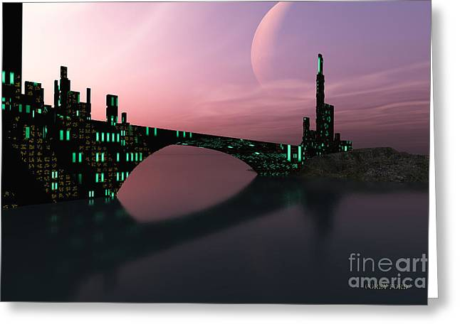 Port Town Digital Art Greeting Cards - Entrancement Greeting Card by Corey Ford