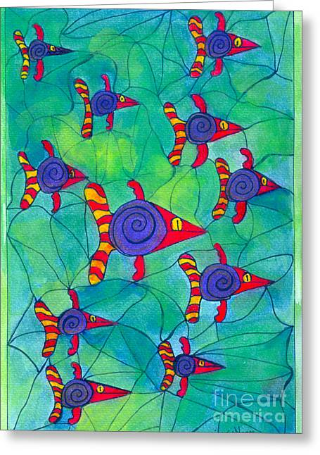 Entrap Greeting Cards - Entrapped Greeting Card by Kim Magee ART
