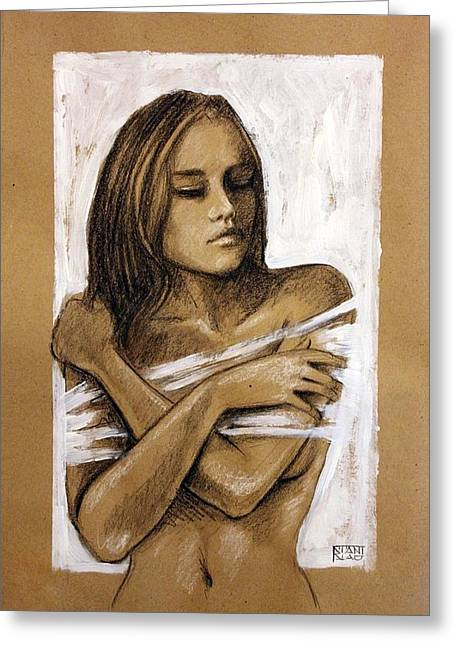 Entrap Greeting Cards - Entrapped Greeting Card by Stanislao