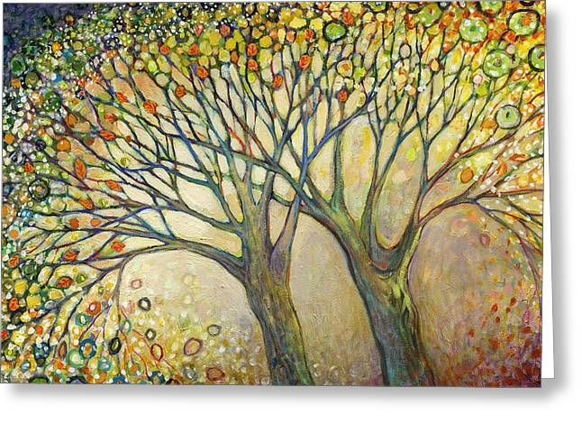 Pairs Greeting Cards - Entwined No 2 Greeting Card by Jennifer Lommers