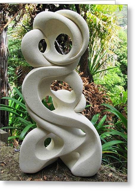 Garden Sculptures Greeting Cards - Entwined Greeting Card by Ruth Killoran