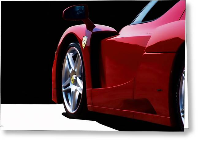 Ferrari Automobile Greeting Cards - Enzo In Red Greeting Card by Peter Chilelli