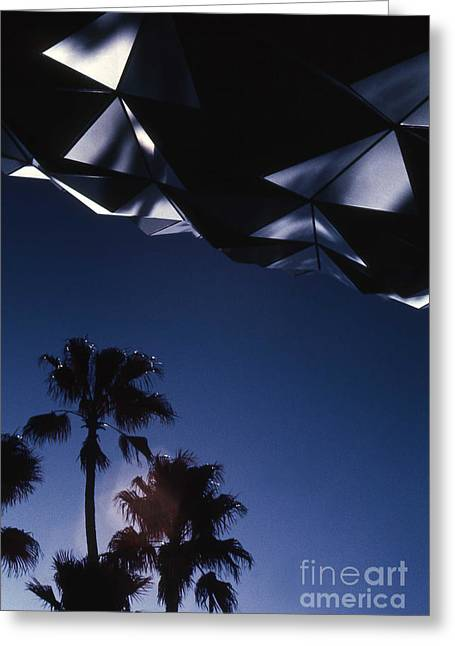 Epcot Greeting Cards - Epcot Abstract Greeting Card by Richard Rizzo