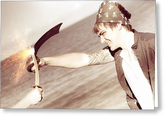 Epic Battle Greeting Card by Jorgo Photography - Wall Art Gallery