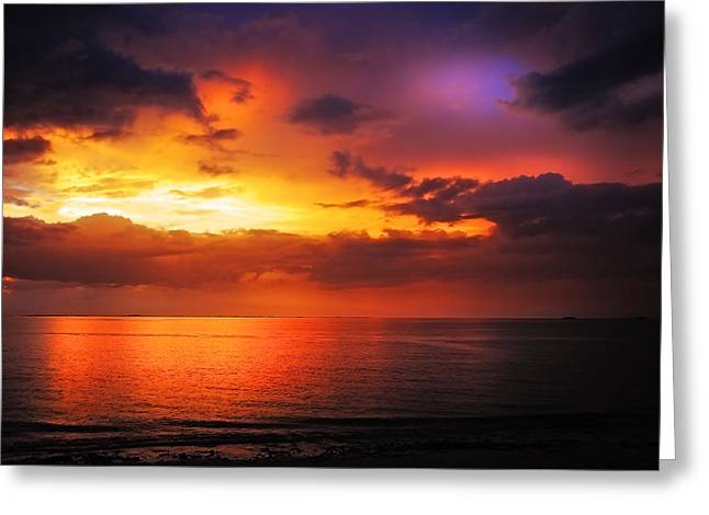 Epic End Of The Day At Equator Greeting Card by Jenny Rainbow