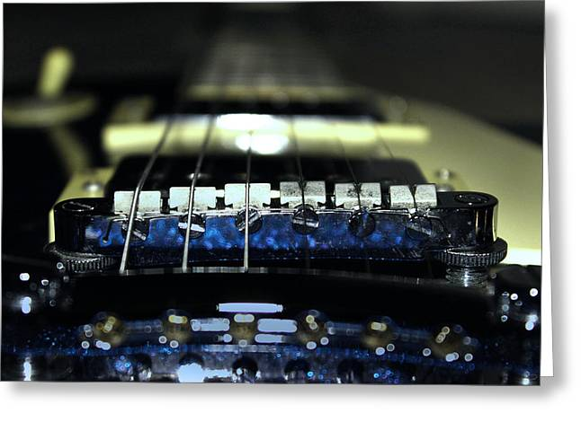 Switches Greeting Cards - Epiphone Les Paul Guitar Greeting Card by Martin Newman