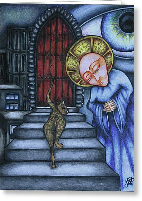 Metaphysics Greeting Cards - Epitaph for Ginger Greeting Card by Maryska Torresowa