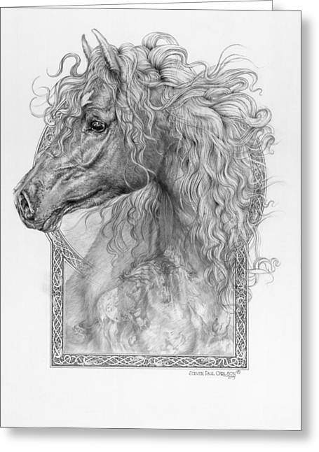 Equus Caballus Greeting Cards - Equus Caballus - Horse - The Divine Gift Greeting Card by Steven Paul Carlson