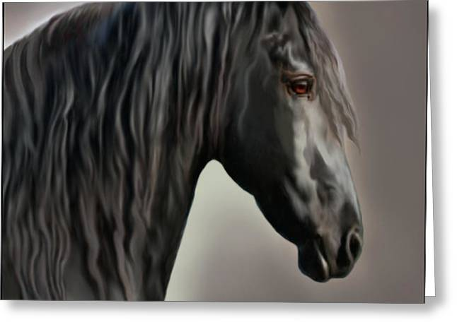 Equus Greeting Card by Corey Ford