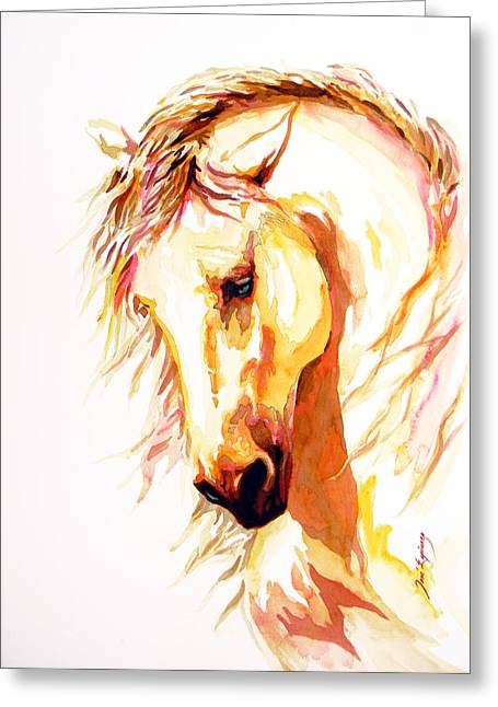 Contemporary Horse Greeting Cards - Equus Greeting Card by Jose Espinoza