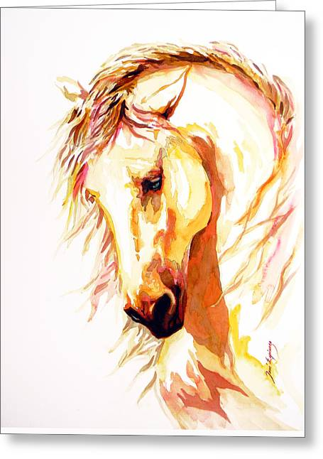 Horse Art Pastels Greeting Cards - Equus Greeting Card by Jose Espinoza