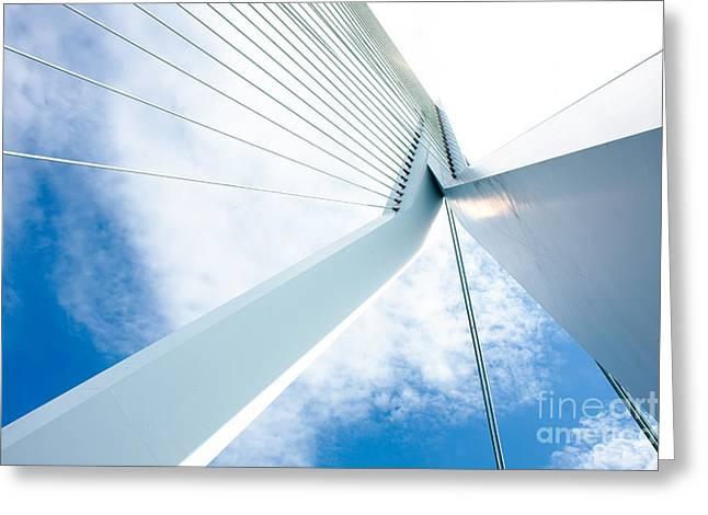 Famous Bridge Greeting Cards - Erasmus bridge is art Greeting Card by Jan Brons