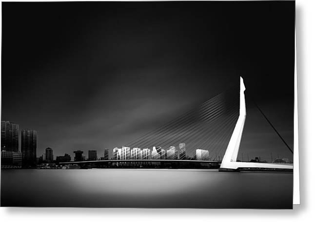 Erasmus Bridge Rotterdam Greeting Card by Denis